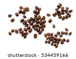coffee beans. isolated on white ... | Shutterstock . vector #534459166