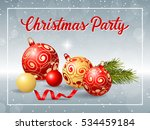 christmas party inscription in... | Shutterstock .eps vector #534459184