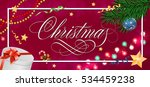 christmas inscription in frame... | Shutterstock .eps vector #534459238