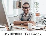 great working day  handsome... | Shutterstock . vector #534461446