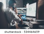 busy working day at work. rear... | Shutterstock . vector #534464659