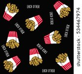 french fries pattern vector   Shutterstock .eps vector #534467974