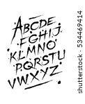 hand drawn ink font. editable... | Shutterstock .eps vector #534469414