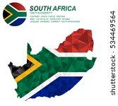 south africa flag overlay on... | Shutterstock .eps vector #534469564