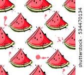 vector abstract seamless... | Shutterstock .eps vector #534470134