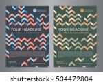 set a5  a4 business brochure... | Shutterstock .eps vector #534472804