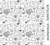 doodle vector freehand drawing... | Shutterstock .eps vector #534474178