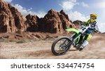 professional dirt bike rider... | Shutterstock . vector #534474754