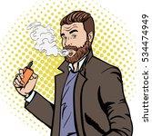 man smoking  e cigarette | Shutterstock .eps vector #534474949