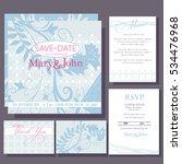 set of wedding cards or... | Shutterstock .eps vector #534476968