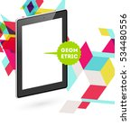 tablet pc icon with geometric...   Shutterstock .eps vector #534480556