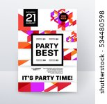 invitation disco party poster... | Shutterstock .eps vector #534480598