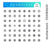 set of 56 snowflake and... | Shutterstock .eps vector #534483634