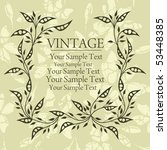 vintage background | Shutterstock .eps vector #53448385