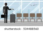 businessman at airport with... | Shutterstock .eps vector #534488560