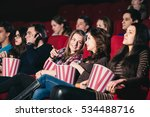 two friends in the cinema on... | Shutterstock . vector #534488716