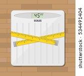 bathroom floor weight scale and ... | Shutterstock .eps vector #534491404