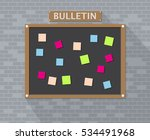 Bulletin Board Hanging On Bric...