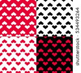 seamless pattern with hearts... | Shutterstock .eps vector #534493264