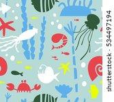 marine life  underwater world...   Shutterstock .eps vector #534497194