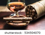 cuban cigars and glass of... | Shutterstock . vector #534504070
