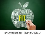 fit apple word cloud collage ... | Shutterstock . vector #534504310