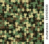 camouflage puzzle. endless... | Shutterstock .eps vector #534505030