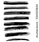 black ink vector brush strokes. ... | Shutterstock .eps vector #534505834
