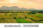 rice field with mountain in... | Shutterstock . vector #534506488