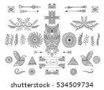 set of ethnic elements. modern...   Shutterstock .eps vector #534509734