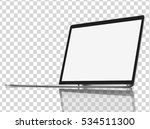modern glossy laptop with... | Shutterstock .eps vector #534511300