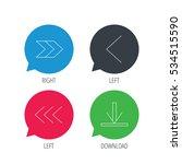 colored speech bubbles. arrows...