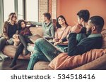 group of multi ethnic young... | Shutterstock . vector #534518416