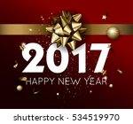 happy new year 2017 greeting... | Shutterstock .eps vector #534519970