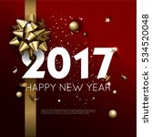 happy new year 2017 greeting... | Shutterstock .eps vector #534520048