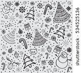 christmas background. vector... | Shutterstock .eps vector #534525136