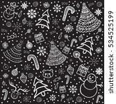 christmas background. vector... | Shutterstock .eps vector #534525199