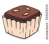 brownie   cartoon vector and... | Shutterstock .eps vector #534525214