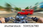 a man riding a motorcycle ... | Shutterstock . vector #534526780