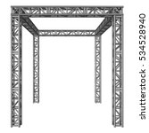 steel truss girder construction.... | Shutterstock . vector #534528940