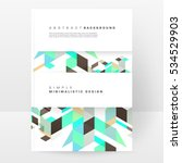 geometric background template... | Shutterstock .eps vector #534529903