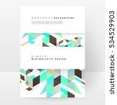 geometric background template... | Shutterstock .eps vector #534529903
