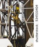 offshore oil rig drilling... | Shutterstock . vector #534533404