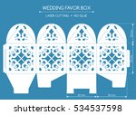 openwork favor box with a lace... | Shutterstock .eps vector #534537598