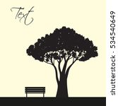 tree and bench illustration | Shutterstock .eps vector #534540649