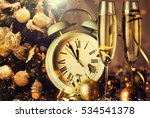 champagne glasses ready to... | Shutterstock . vector #534541378