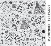 christmas background. | Shutterstock . vector #534543379