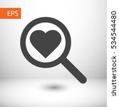 heart search icon. one of set...