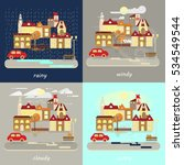 four types of different autumn...   Shutterstock . vector #534549544