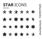 simple modern set of star icons.... | Shutterstock .eps vector #534557020